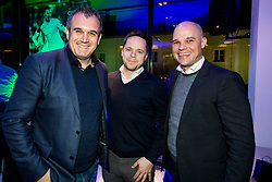 Dejan Stefanovic, Ermin Rakovic  and Marko Levovnik of SPINS during Traditional New Year party of of the Slovenian Football Association - NZS, on December 18, 2017 in Kongresni center, Brdo pri Kranju, Slovenia. Photo by Vid Ponikvar / Sportida