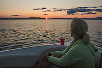 Day on Lake Winnipesaukee with Hike up Rattlesnake Island and Cookout at Bear Island followed by sunset cruise.  ©2014 Karen Bobotas Photographer