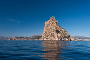 The point of Ifach Penon mountain, Calpe from blue sea,Alicante province, Spain