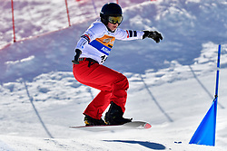MONTAGGIONI Maxime, SB-UL, FRA, Banked Slalom at the WPSB_2019 Para Snowboard World Cup, La Molina, Spain