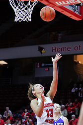 NORMAL, IL - January 06: Katrina Beck during a college women's basketball game between the ISU Redbirds and the Drake Bulldogs on January 06 2019 at Redbird Arena in Normal, IL. (Photo by Alan Look)