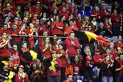 February 2, 2018 - Bruxelles, Belgique - BRUSSELS, BELGIUM - FEBRUARY 2 : illustration picture of Belgian fans during Ruben Bemelmans of Belgium vs Marton Fucsovics pictured during the Davis Cup World Group first round match between Belgium and Hungary on febuari 2, 2018 in Liege , Belgium, 02/02/2018 (Credit Image: © Panoramic via ZUMA Press)