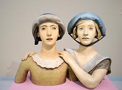 Sculpture Girlfriends by Karel Dvorak at Museum of Modern Art or Veletrzni Palace Prague in Czech Republic