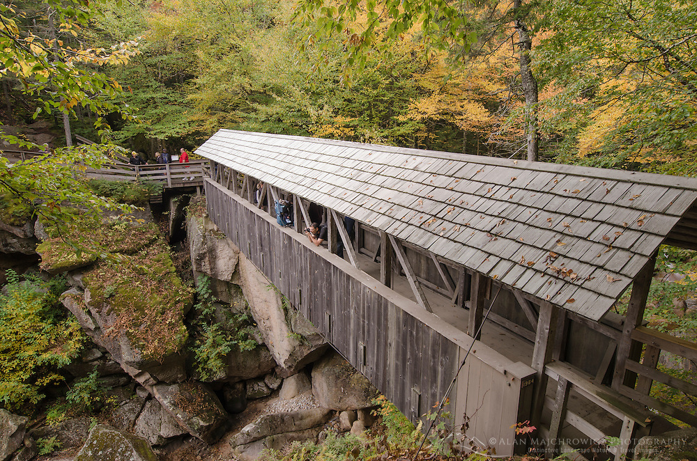 Sentinel Pine Covered Bridge , Franconia Notch New Hampshire