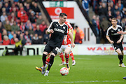 Barnsley midfielder Adam Hammill during the Sky Bet League 1 play-off second leg match between Walsall and Barnsley at the Banks's Stadium, Walsall, England on 19 May 2016. Photo by Dennis Goodwin.