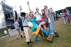 Fans, Rockness, Saturday, 11th June 2011..RockNess 2011, the annual music festival which takes place in Scotland at Clune Farm, Dores, on the banks of Loch Ness near Inverness..Pic ©2011 Michael Schofield. All Rights Reserved..