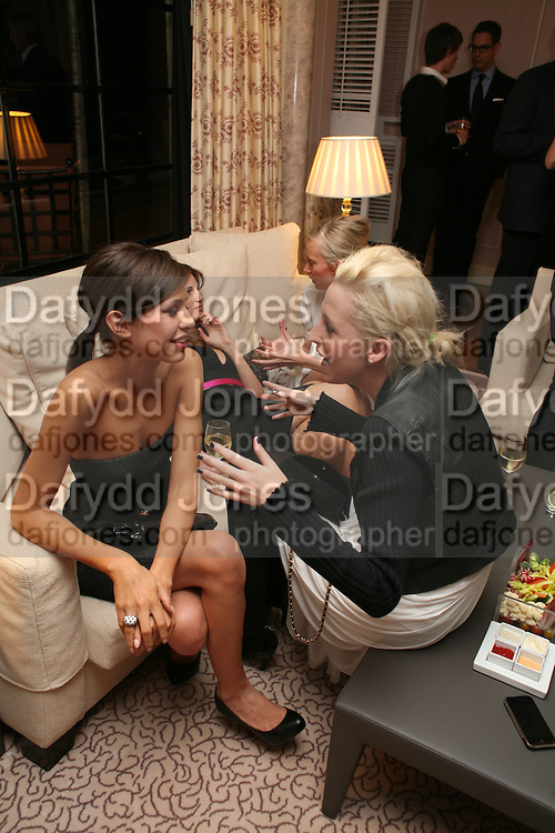 DASHA ZHUKOVA AND LADY SOPHIA HESKETH .  Dinner hosted by Elizabeth Saltzman for Donatella Versace. Claridge's Hotel, Brook Street, Mayfair, London. 11 March 2008.  *** Local Caption *** -DO NOT ARCHIVE-© Copyright Photograph by Dafydd Jones. 248 Clapham Rd. London SW9 0PZ. Tel 0207 820 0771. www.dafjones.com.