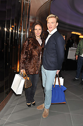 HENRY CONWAY and KATYA VIRSHILAS at the launch of famed American fitness club 'Equinox' 99 High Street Kensington, London on 23rd October 2012.