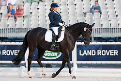 Eike Philipp riding Regaliz in the Grade 1a Para-Dressage at the 2014 World Equestrian Games, Caen, Normandy, France..