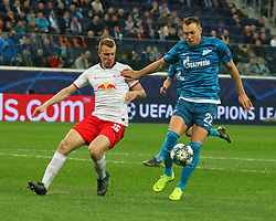 November 5, 2019, Saint-Petersburg, Russia: Russian Federation. Saint-Petersburg. Gazprom Arena. Football. UEFA Champions League. Group G. round 4. Football club Zenit - Football Club RB Leipzig. Player of Zenit football club Artem Dzyuba, Artem Dzyuba (Credit Image: © Russian Look via ZUMA Wire)
