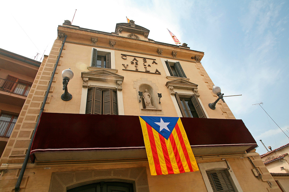 September 11th. 2008. Catalanism claiming the national independence day  in Catalonia.