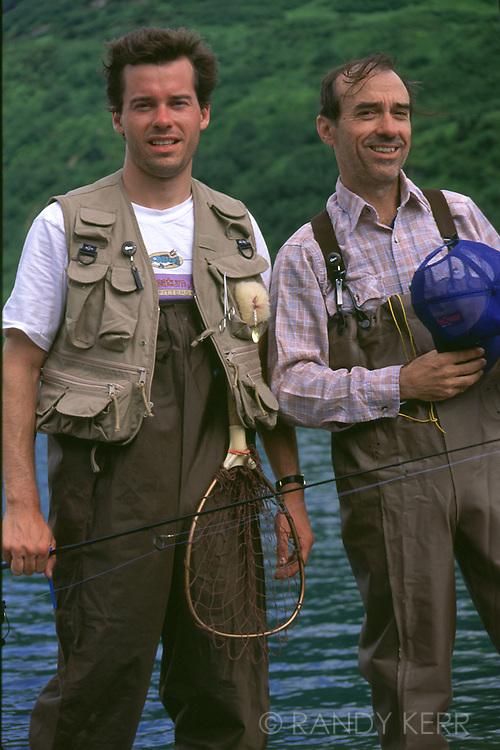 Two fisherman in Alaska