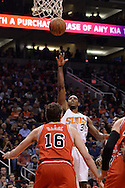 Nov 18, 2015; Phoenix, AZ, USA; Phoenix Suns guard Brandon Knight (3) shoots the basketball over Chicago Bulls center Pau Gasol (16) in the first half of the NBA game at Talking Stick Resort Arena. Mandatory Credit: Jennifer Stewart-USA TODAY Sports