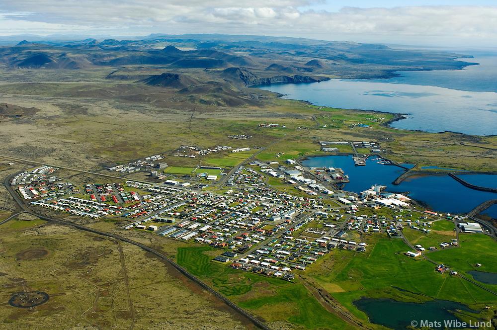 Grindavík séð til norðurs / Grindavik viewing north