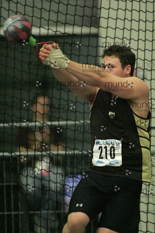 (Windsor, Ontario---12 March 2010) Garth Suppes of University of Manitoba   competes in the  at the 2010 Canadian Interuniversity Sport Track and Field Championships at the St. Denis Center. Photograph copyright Sean Burges/Mundo Sport Images. www.mundosportimages.com