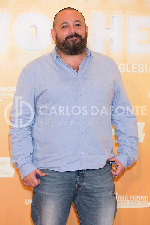 """en la presentación de la pelicula """"Mi Gran Noche"""" en Madrid."""