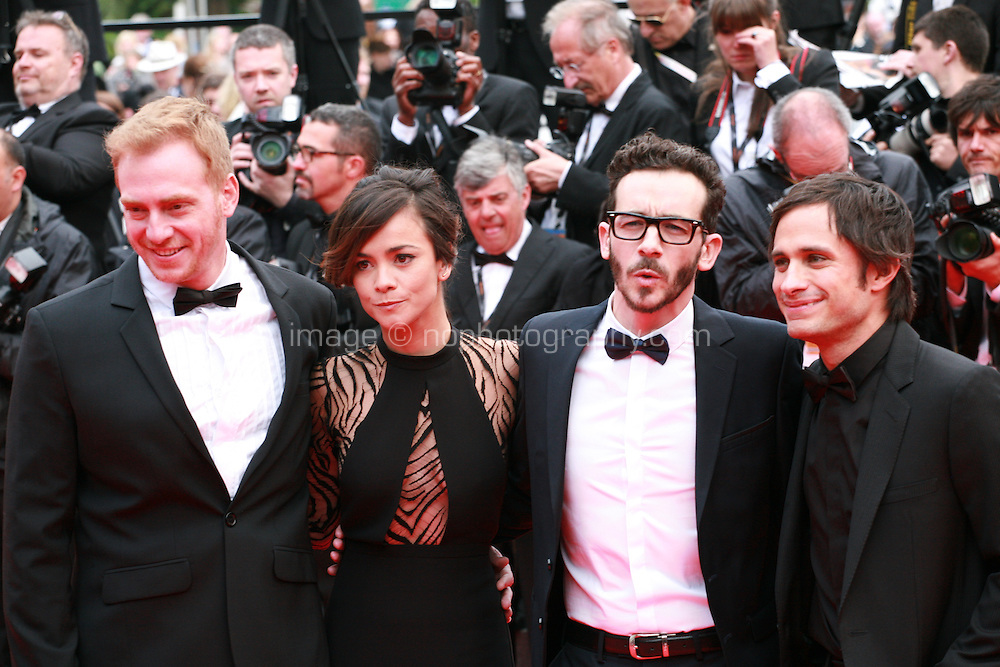 Claudio Tolcachir, Alice Braga, Pablo Fendrik and Gael Garcia Bernal at the Foxcatcher gala screening red carpet at the 67th Cannes Film Festival France. Monday 19th May 2014 in Cannes Film Festival, France.
