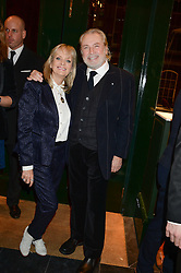 TWIGGY and LEIGH LAWSON at the Kent and Curwen London Flagship Launch, Saville Row, London on 6th November 2013.