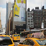 Papa Francesco in un murale gigante a Madison Square Garden NEW YORK