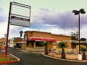 12 NOVEMBER 2011 - PHOENIX, AZ: An abandoned and closed Filiberto's Mexican restaurant on N 24th St south of Indian School Rd in Phoenix, AZ.    PHOTO BY JACK KURTZ