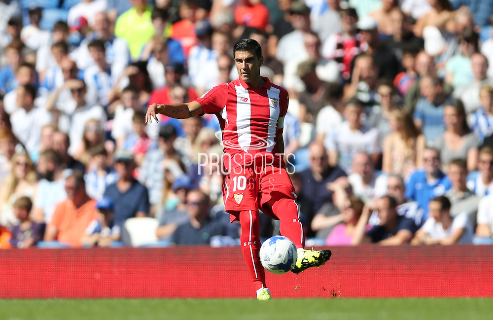 José Antonio Reyes of Sevilla during the Pre-Season Friendly match between Brighton and Hove Albion and Sevilla at the American Express Community Stadium, Brighton and Hove, England on 2 August 2015.