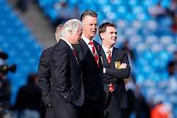 Manchester United Manager Louis van Gaal looks on during the warm up - Photo mandatory by-line: Rogan Thomson/JMP - 07966 386802 - 02/11/2014 - SPORT - FOOTBALL - Manchester, England - Etihad Stadium - Manchester City v Manchester United - Barclays Premier League.