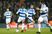 Queens Park Rangers midfielder Eberechi Eze (10) on the ball during The FA Cup 5th round match between Queens Park Rangers and Watford at the Loftus Road Stadium, London, England on 15 February 2019.