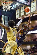Kent State Golden Flashes guard Jalen Avery (0) shoots against Vanderbilt Commodores forward Simisola Shittu (11) during the second half of an NCAA basketball game in Nashville, Tenn., Friday, Nov. 23, 2018. Kent State won 77-75. (Jim Brown/Image of Sport)