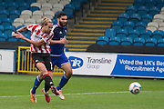 Harry Pell scores during the Vanarama National League match between FC Halifax Town and Cheltenham Town at the Shay, Halifax, United Kingdom on 3 October 2015. Photo by Antony Thompson.