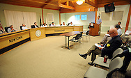 Steve Bacher addresses the planning commission about a ban on fracking at Newtown Township Building Tuesday July 7, 2015 in Newtown, Pennsylvania. (Photo by William Thomas Cain)