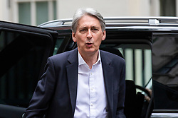 © Licensed to London News Pictures. 12/06/2018. London, UK. The Chancellor of The Exchequer Philip Hammond on Downing Street before the Cabinet meeting. Photo credit: Rob Pinney/LNP