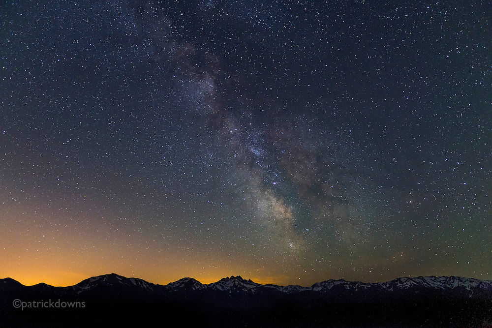 Milky Way over Olympic National Park mountains