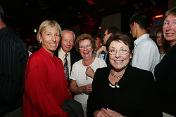 LIVERPOOL, ENGLAND - WEDNESDAY, JUNE 9th, 2005: Martina Navratilova with fans at the Players Party at the St Thomas Hotel during the 4th Liverbird Developments Liverpool International Tennis Tournament. (Pic by Dave Rawcliffe/Propaganda)