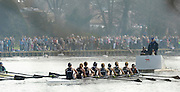 Henley, GREAT BRITAIN,  The  Newton Women's Boat race, Oxford UWBC approaching, Temple Island, as they go on to win the 2011 Henley Boat Races, on the Henley Reach, River Thames, England  Sunday 27.03.2011. [Mandatory Credit, Peter Spurrier/Intersport-images.