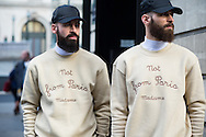 Two Men in Sweatshirts, Outside Balmain FW2015