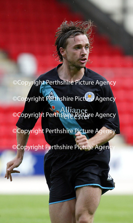 St Johnstone v Leicester City..24.07.04 (Friendly) <br />New signing David Connolly<br /><br />Picture by Graeme Hart.<br />Copyright Perthshire Picture Agency<br />Tel: 01738 623350  Mobile: 07990 594431