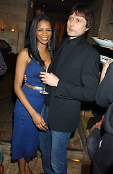 Singer BRETT ANDERSON of Suede and MISS SANTUCIA CHAN-JON-CHU  at a party hosted by Daniella Helayel of fashion label ISSA held at Taman Gang, 141 Park Lane, London on 15th February 2006.<br /><br />NON EXCLUSIVE - WORLD RIGHTS