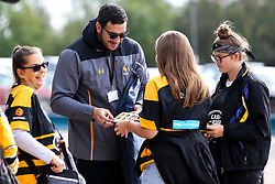 Jeff Toomaga-Allen of Wasps signs autographs - Mandatory by-line: Robbie Stephenson/JMP - 12/10/2019 - RUGBY - Ricoh Arena - Coventry, England - Wasps v Worcester Warriors - Premiership Rugby Cup