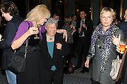 JOANNA LUMLEY; BOBBY GOLDMAN; JENNIFER SAUNDERS;  Party following the Theatre Royal press night performance of The Lion in Winter , The Institute of Directors. London. 15 November 2011. <br /> <br />  , -DO NOT ARCHIVE-© Copyright Photograph by Dafydd Jones. 248 Clapham Rd. London SW9 0PZ. Tel 0207 820 0771. www.dafjones.com.