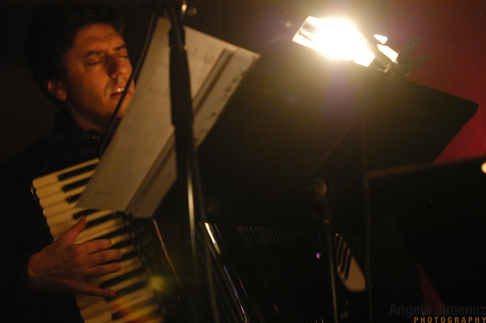 Accordion player Gary Versace performs with The Maria Schneider Jazz Orchestra at the Jazz Standard in New York City on March 24, 2005. .