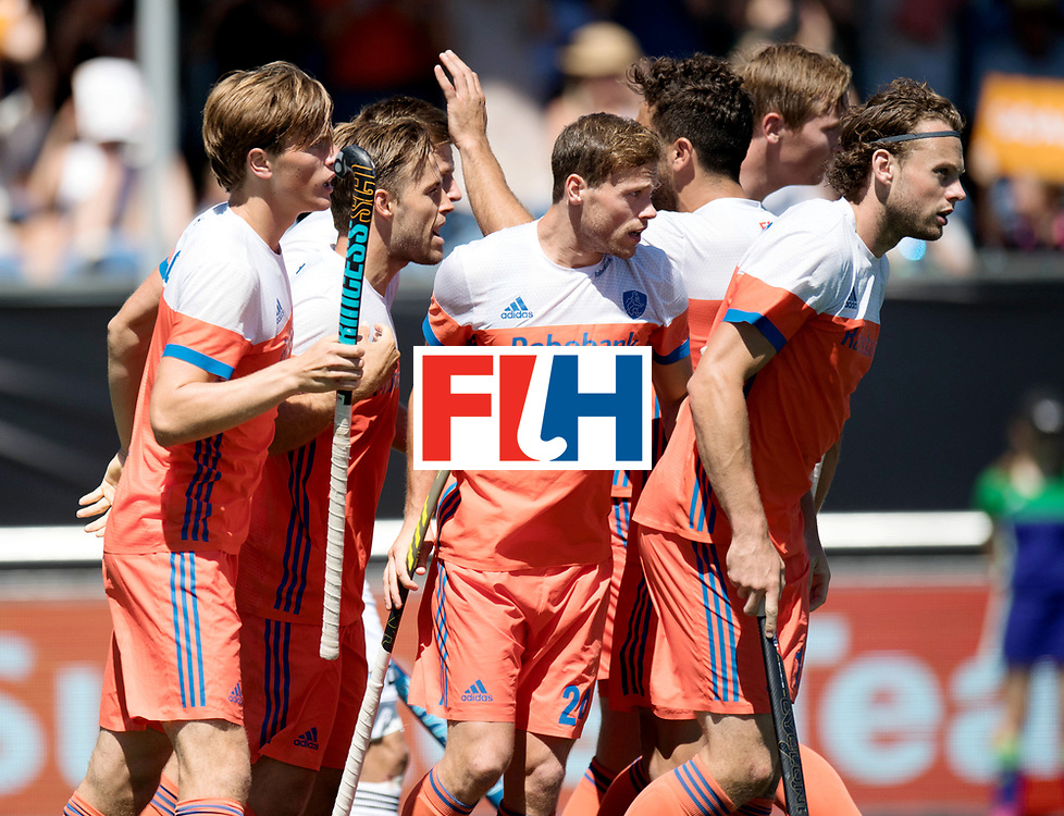BREDA - Rabobank Hockey Champions Trophy<br /> 3rd/4th place The Netherlands - Argentina<br /> Photo: The Netherlands celebrate the 1-0.<br /> COPYRIGHT WORLDSPORTPICS FRANK UIJLENBROEK