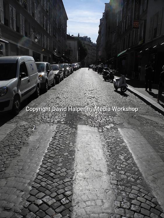 Backlit Rue d'Orsel, Montmartre, Paris