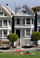 US-SAN FRANCISCO: Old Victorian houses on Alamo Square. PHOTO: GERRIT DE HEUS
