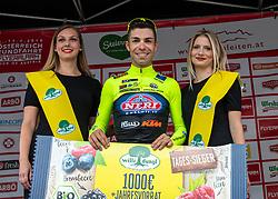 09.07.2019, Frohnleiten, AUT, Ö-Tour, Österreich Radrundfahrt, 3. Etappe, von Kirchschlag nach Frohnleiten (176,2 km), im Bild Giovanni Visconti (ITA, Neri Sottoli - Selle Italia - KTM) siegt in Frohleiten, Steiermark // Giovanni Visconti of Italy (Neri Sottoli - Selle Italia - KTM) stage winner in Fronleiten Styria during 3rd stage from Kirchschlag to Frohnleiten (176,2 km) of the 2019 Tour of Austria. Frohnleiten, Austria on 2019/07/09. EXPA Pictures © 2019, PhotoCredit: EXPA/ Reinhard Eisenbauer