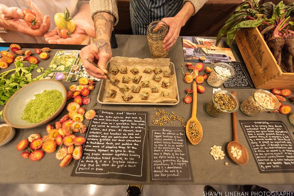 FENUGREEK, Trigonell caerulea<br /> ROVEJA PEAS, Pisum sativum<br /> Seed Grower: Uprising Seeds<br /> Chef: Timothy Wastell, Antica Terra