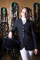 Female horseback rider portrait