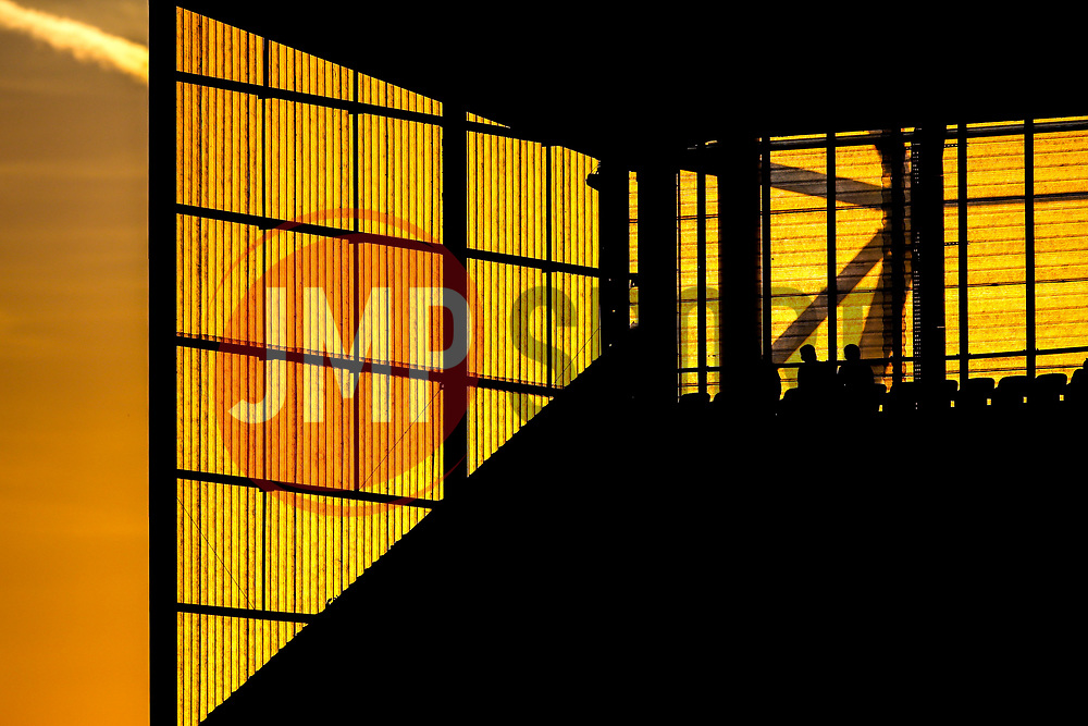 Stoke City fans watch on as the sun sets behind The Bet365 Stadium - Mandatory by-line: Robbie Stephenson/JMP - 25/07/2018 - FOOTBALL - Bet365 Stadium - Stoke-on-Trent, England - Stoke City v Wolverhampton Wanderers - Pre-season friendly