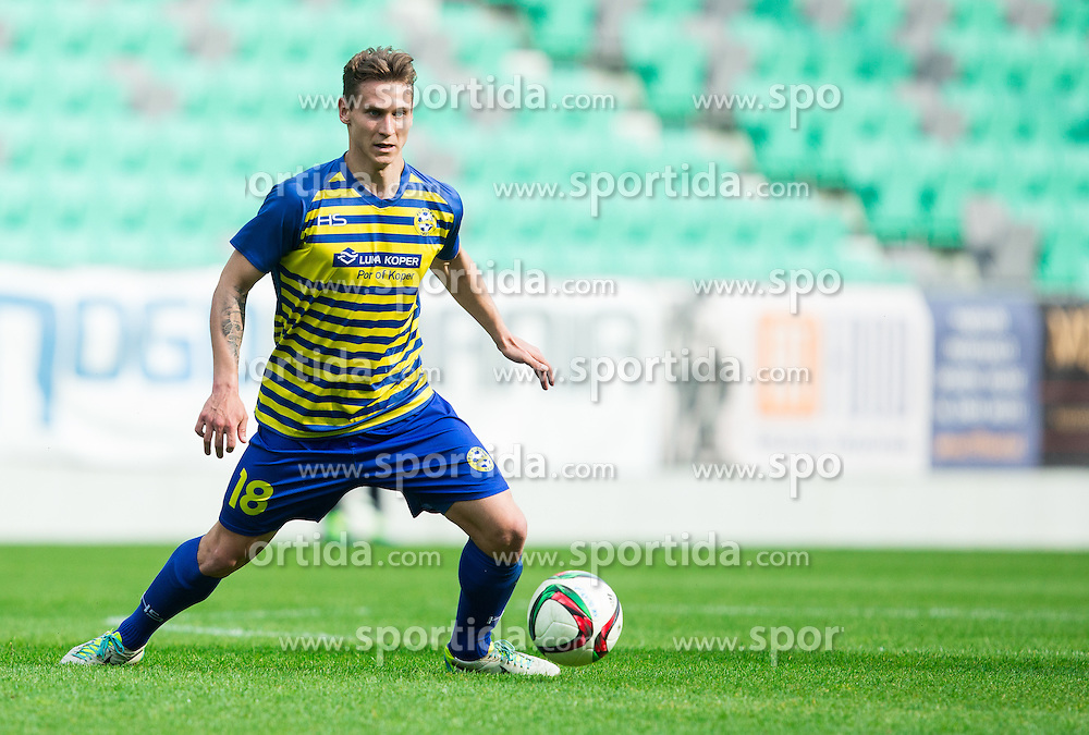 Leo Stulac #18 of Luka Koper during football match between NK Olimpija and FC Luka Koper in 29th Round of Prva liga Telekom Slovenije 2014/15, on April 25, 2015 in SRC Stozice, Ljubljana, Slovenia. Photo by Vid Ponikvar / Sportida