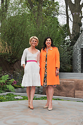 Left to right, EMILIA FOX and KIRSTY ALLSOPP at the 2013 RHS Chelsea Flower Show held in the grounds of the Royal Hospital, Chelsea on 20th May 2013.