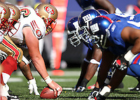 Oct 21, 2007: East Rutherford, NJ, USA: The San Francisco 49ers line up against the New York Giants during the first half at Giants Stadium. The Giants won 33-15..
